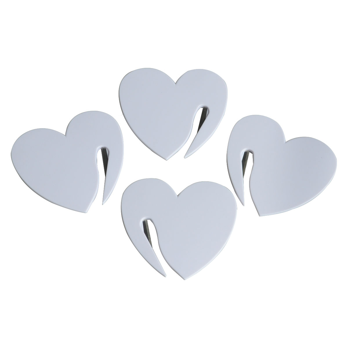 1pcs Durable Plastic Letter Mail Envelope Opener Tiny Heart-shape Paper Guarded Cutter Blade Office School Equipment