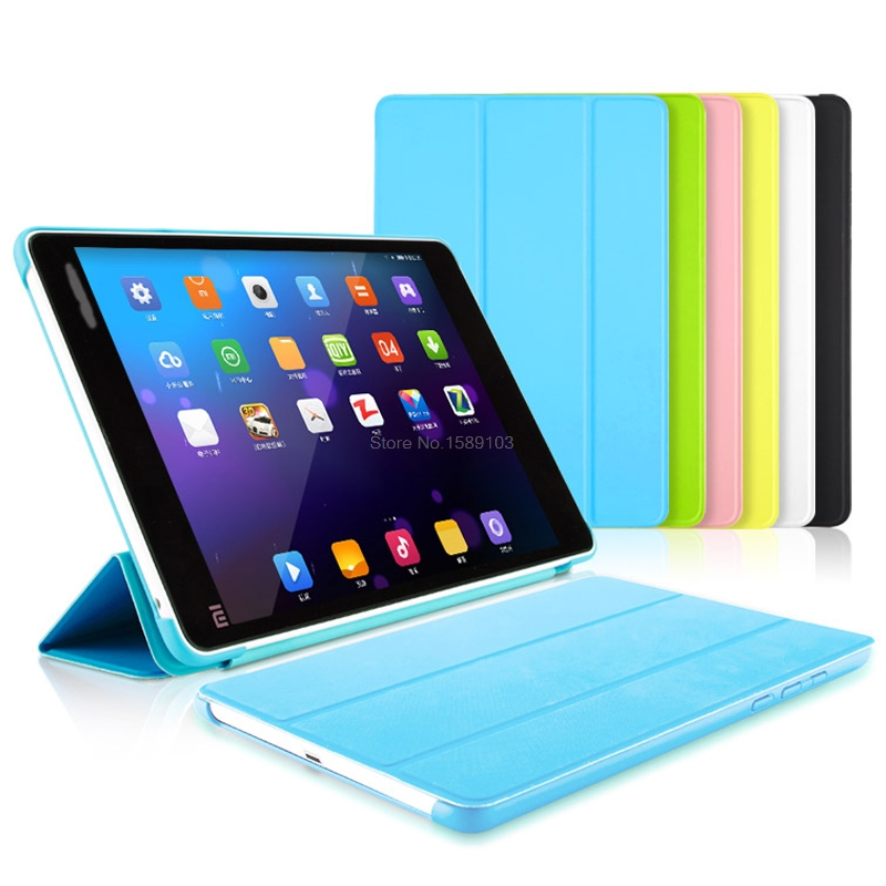 HOLAZING Color Matching Official Ultra thin PU Leather Smart Sleep Wake-up Tri-fold Case For Xiaomi MiPad 1 7.9 Mi Pad Cover