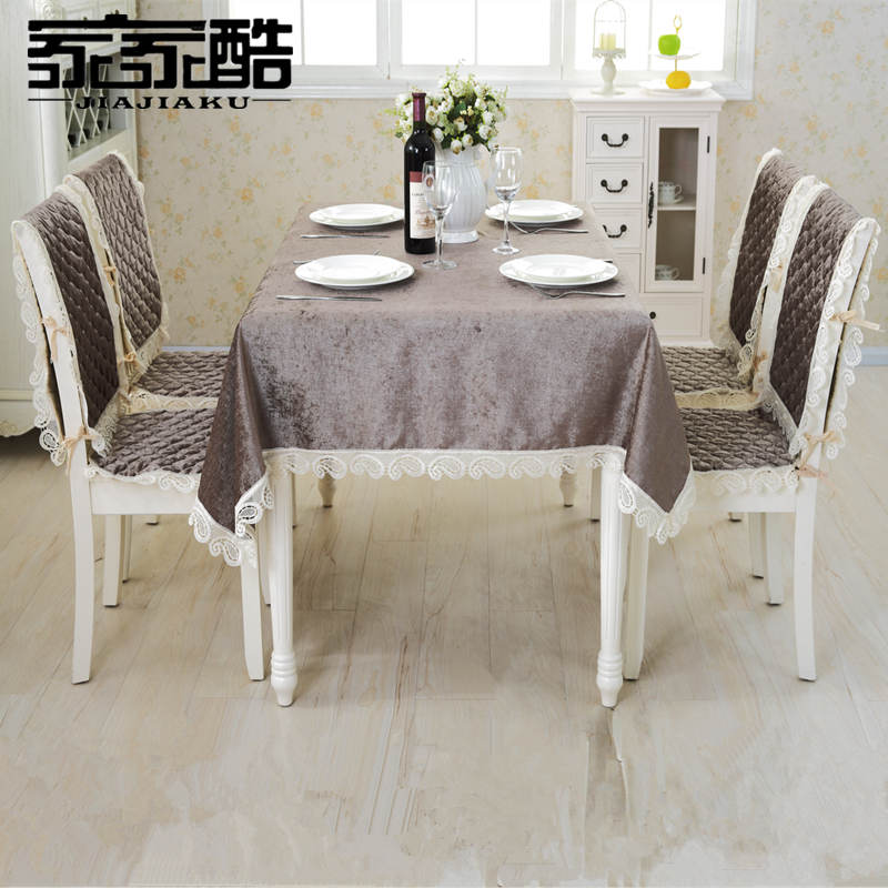 quality dining room chair covers director replacement ebay jiajiaku brand chenille tablecloths set customized high furniture table seat pads