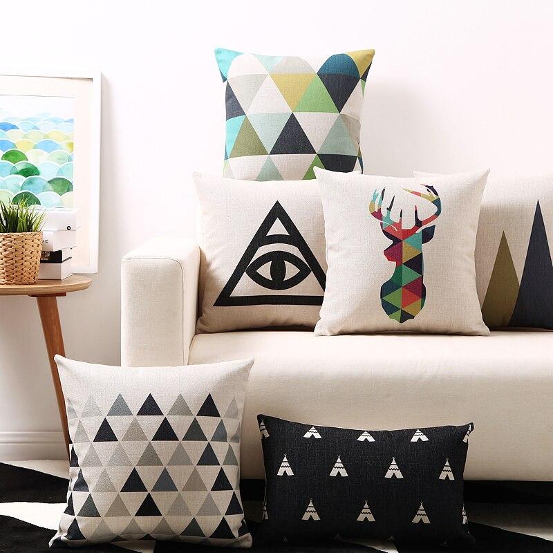 Envío libre Nordic Deer jirafa triángulos geométricos montaña ojo ...