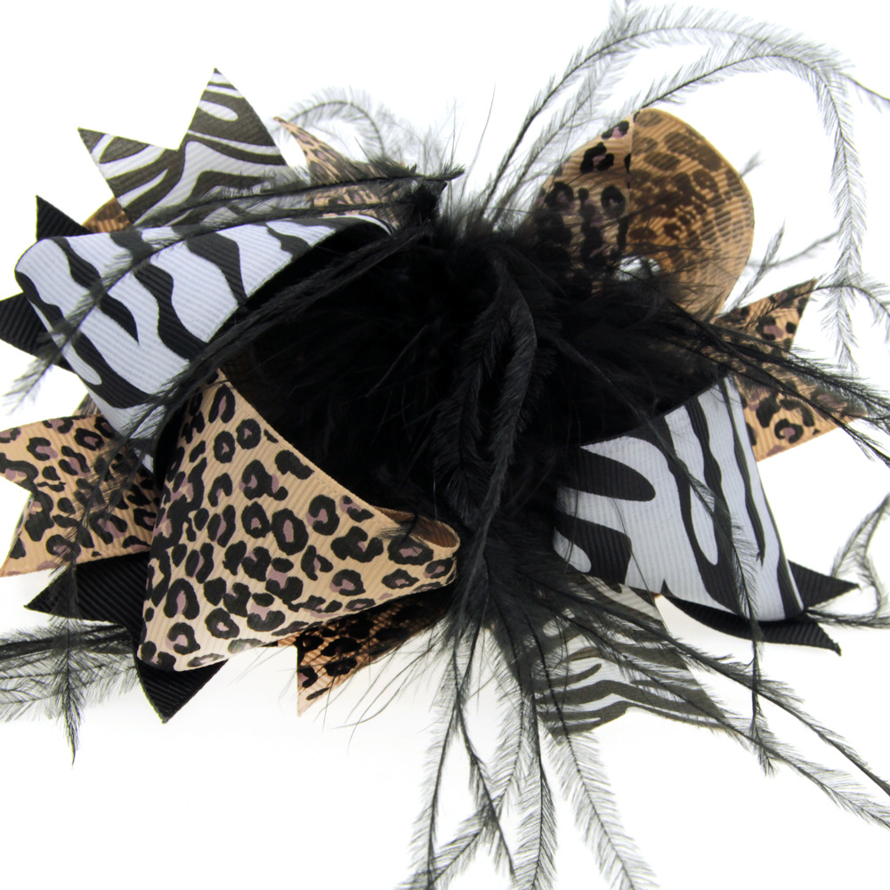 20pcs/lot lovely feather bow halloween hair headbands for hair