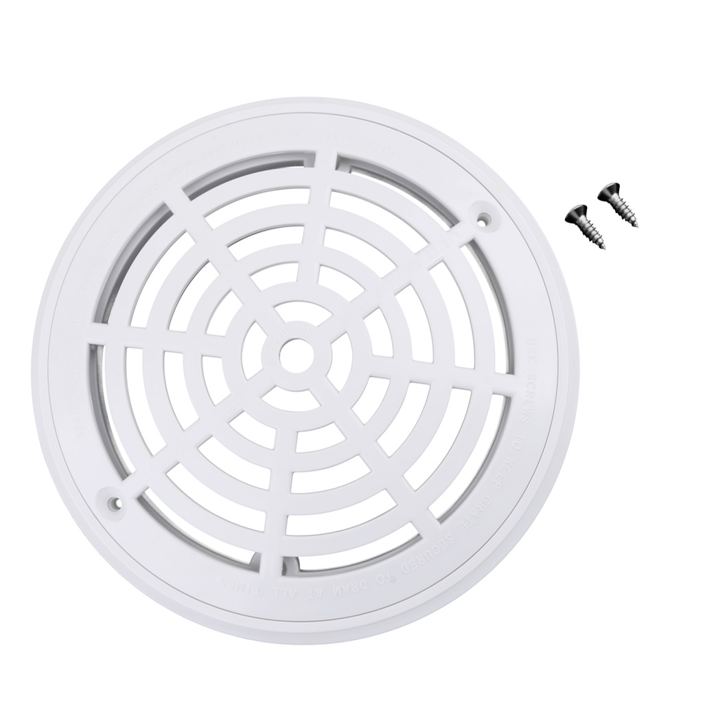 ABS Plastic Baoblaze White Main Drain Cover with Screws Replacement for Swimming Pool Water Tank in Pool Accessories from Sports Entertainment