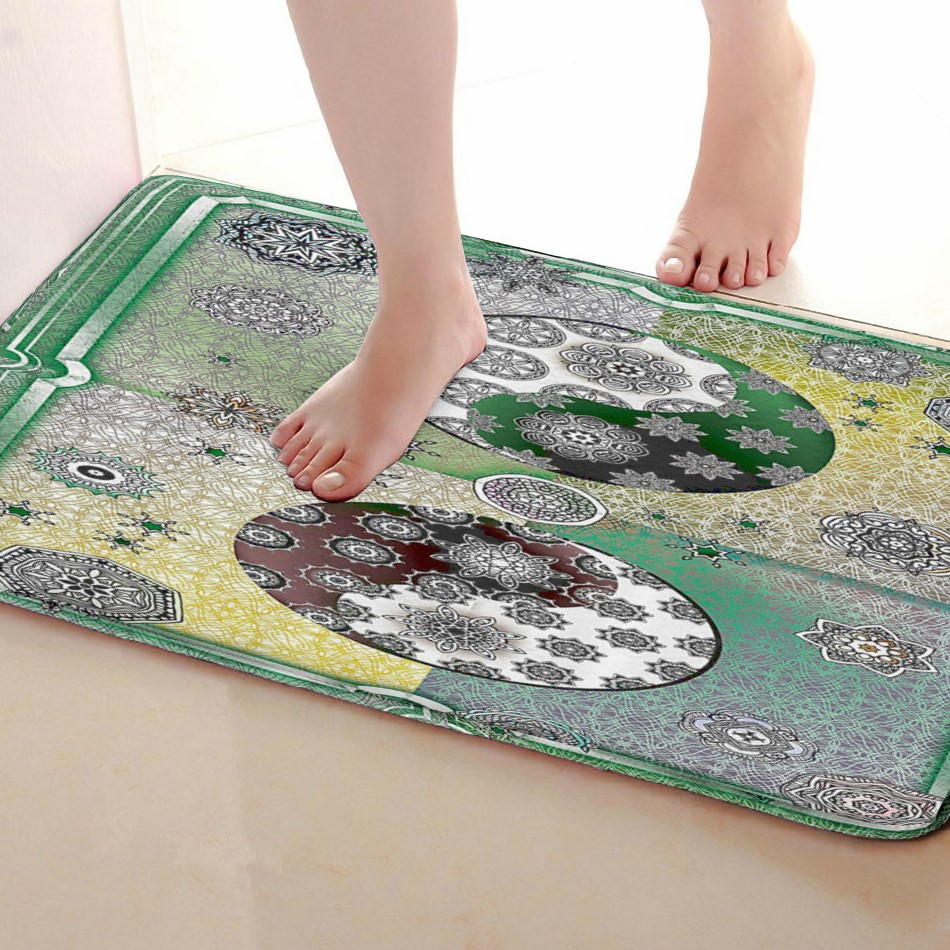 Yin and Yang Style Bathroom Mat,Funny Anti Skid Bath Mat,Shower Curtains Accessories,Matching Your Shower Curtain