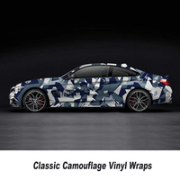 5/10/15/20/25/30m*1.52m light blue Camouflage Adhesive PVC Vinyl Film Car Wrap Racing Car Camo Sticker Vehicle DIY Decal