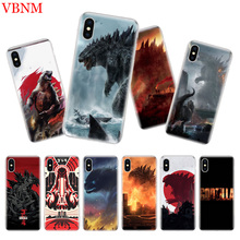 Godzilla Gojira Luxury Silicome Phone Case For iPhone 7 8 6 6S Plus X 10 Ten XS MAX XR 5 5S SE Art Customized Cover Cases Coque