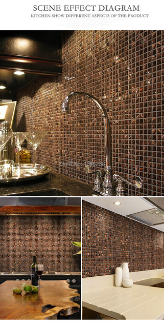 Küche Back Glas Fliesen Gold Linie Muster Meshback Mosaik Fliesen Für Haus  Bad Dusche Arbeitsplatte Wand Boden Decor, LSJX02