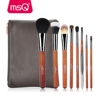MSQ Pro Makeup Brush Set 8pcs High Quality Goat Synthetic Powder Eyeshadow Foundation Makeup Tool Kits