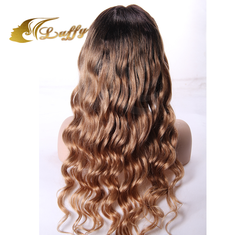 2016 227 Dark Brown And Natural Blonde Full Lace Ombre