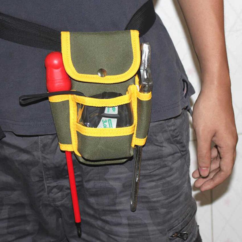 1 ピース多機能電気技師ツールバッグ防水オックスフォード布ツールキットポケットウエストベルト修理ポーチポケットツール