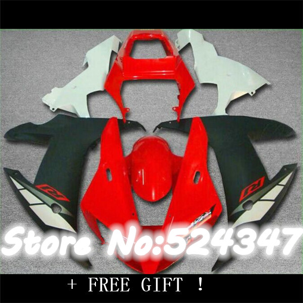 Injection Fitment body parts for fairings YZF R6 2003 2004 2005 red white black fairing kit r6 03 04 05