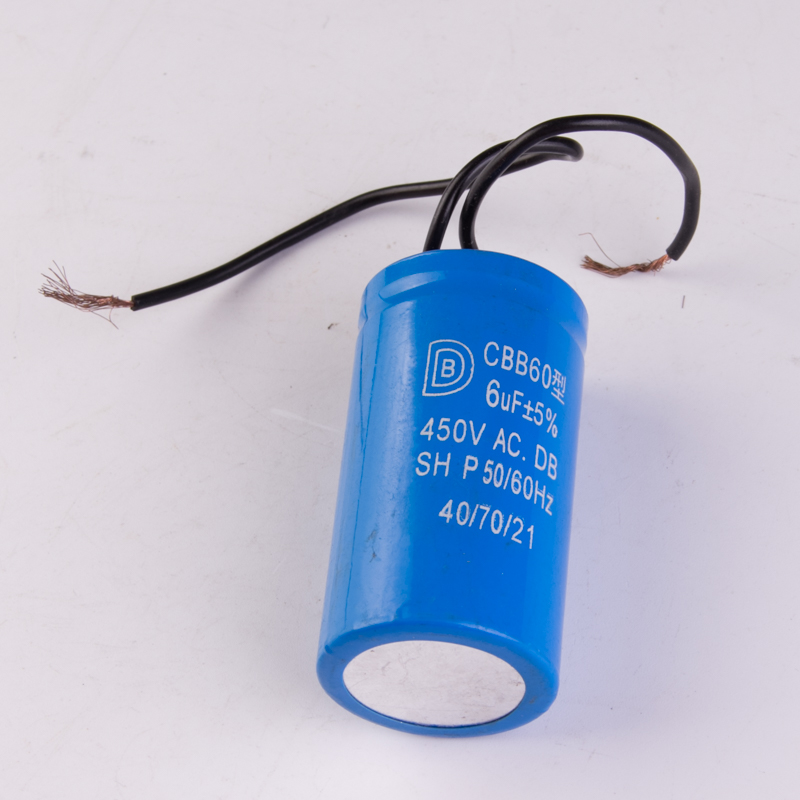 CBB60 capacitor  6uf   450V  50 60Hz free shipping 5pcs 50uf 450v cbb60 washing machine capacitor water pump start capacitor 50 100