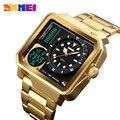SKMEI Для мужчин цифровые электронные часы Нержавеющаясталь ремешок часы день дата Дисплей личности сигнализация Просмотрам Relogio Masculino