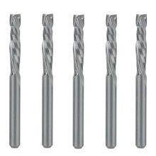 5 個アップ & ダウンカット 3.175 × 17 ミリメートル 2 フルートスパイラル超硬ミルツールカッター cnc ルータ、圧縮木材エンドミルカッタービット