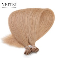 Neitsi Indian Straight Loop Micro Ring Remy Hair 100% Nano Ring Beads Human Hair Extensions 20″ 1.0g/s 50g 20 Colors