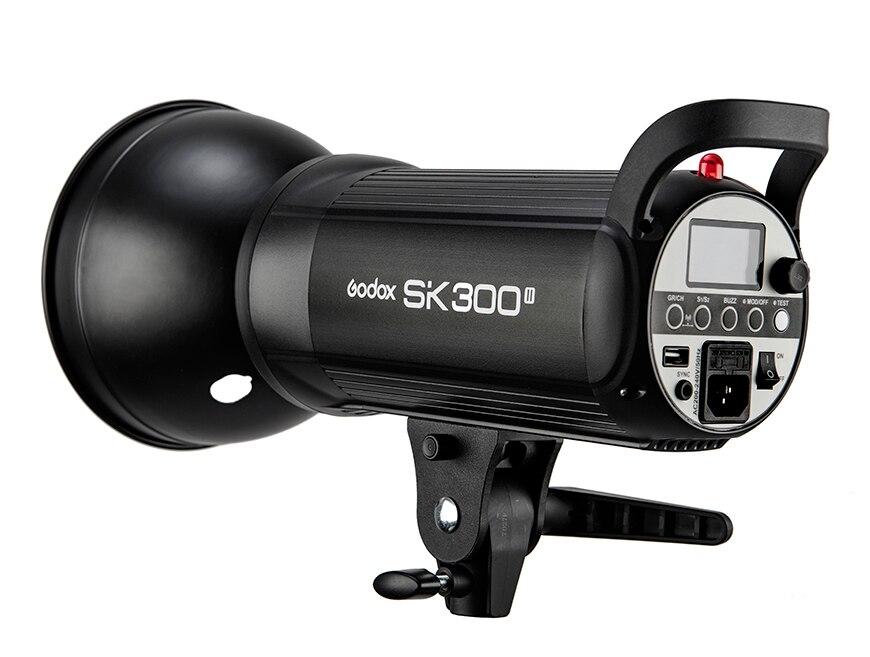 New Arrival Godox SK SK300II SK300 II 110V 220V Professional Studio Strobe Power 5600K 300WS GN58 Mini Studio Flash Light Lamp sk ii sk ii color