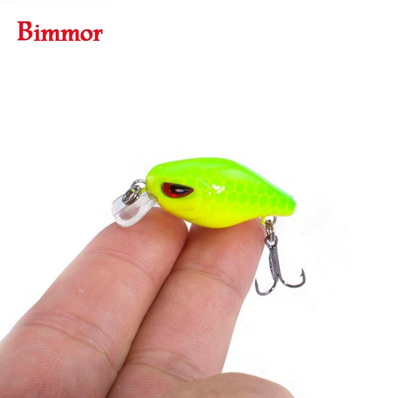 Bimmor Floating Crankbaits Fishing Lures 3cm 2g Mini Wobbler Plastic Hard Bait Pesca Swimbaits Carp Tackles 8 Colors 1pcs/lot