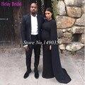 2015 Noble Black Stain Formal Maternity Dresses Kim Kardashian Celebrity Evening Dresses With Wraps Prom Dresses Pregnant Women