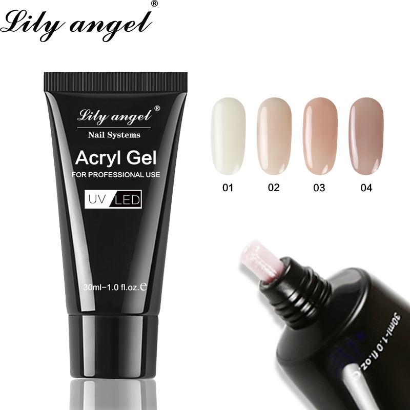 Us 168 42 Offlily Angel Acryl Gel Crystal Nail Poly Gel 30ml Uv Nail Gel Quick Drying Art Gel Lacquer Jelly Extension Builder Sjj1 36 In Nail Gel
