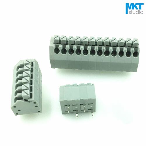 100Pcs 16P A Type 3 50mm Pitch Spring Clamp PCB Screwless Terminal Block