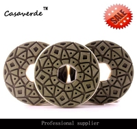 DC GEGPP02 D125mm 5 Inch Snail Lock Diamond Stone Edge Polishing Pads For Granite And Marble