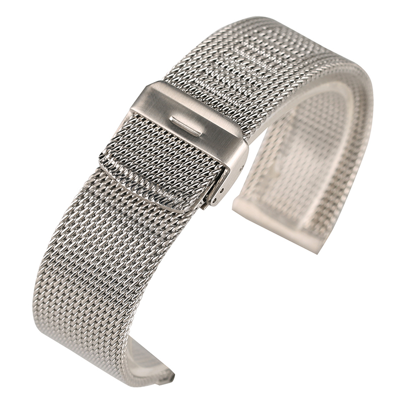 18/20/22mm Black/Silver/Rose Gold Mesh Stainless Steel Men Watchband Hook Buckle Strap Watches Replacement Bracelet for Huiwei 18 20 22mm mesh stainless steel watch band black silver rose gold strap hook buckle men watches replacement bracelet for huiwei