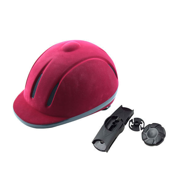 2016 Equestrian sports equipments flocking horse riding  adjustable helmets noble and elegance