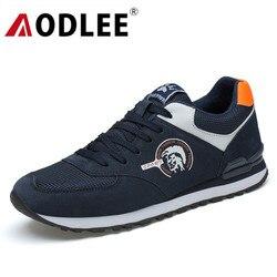 Aodlee couro genuíno qualidade sapatos casuais dos homens da moda tênis outono inverno confortável marca de luxo sapatos casuais malha