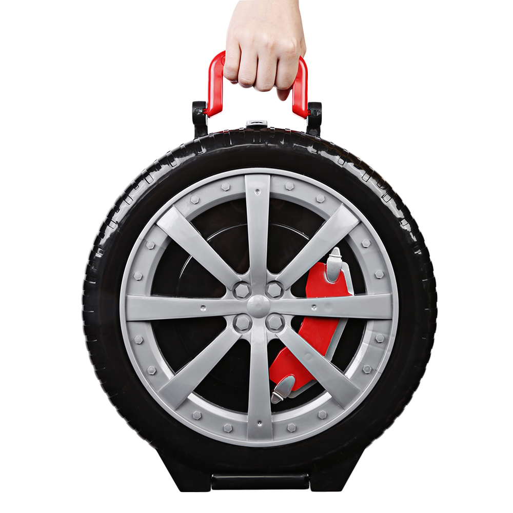 3 Levels Car Garage Play Set Parking Toys For Kids Model Building Kits Portable Wheel Shape Suitcase