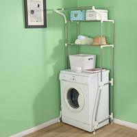 Bathroom Shelves Storage Rack Stainless steel Floor Type Simple Assembly Washing Machine Shelf Furniture Over Toilet DQ5021 5