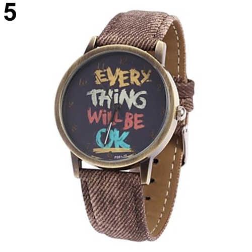 Для мужчин's женщин каждая вещь будет ОК джинсовая Группа Аналоговые Кварцевые платье наручные часы relogio feminino