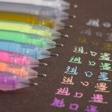 9Color/lot Kawaii Large-capacity Glitter Pen 1.0mm Gel Pen Flash Graffiti Pens for Marker Writing Drawing Office School Supplies недорого