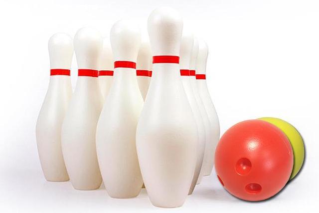 12 Peça crianças Bowling Set/10 Pinos, 2 Bolas De Boliche branco Crianças Brinquedo Educativo para crianças Partido Divertido Jogo de Família (Grande)