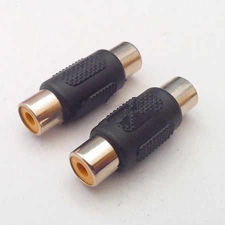 1 Buah Kualitas Tinggi Audio AV Konektor RCA Dual-HQ Trivia RCA Perempuan untuk Perempuan