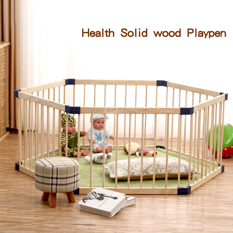 Solid Wood Baby Playpen Indoor Children's Game Fence Multifunction Baby Crawl Toddler's Baby's Solid Wood Safety Fence
