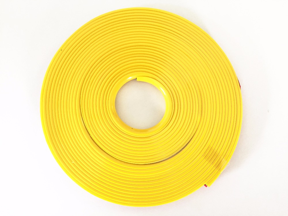 "1 Roll YELLOW FOR CAR 14-22"" WHEEL RIM PROTECTOR TIRE GUARD LINE EXTERIOR MOULDING TRIM"