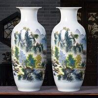 Цзиндэчжэнь керамическая ваза украшение комнаты ваза цветок новый китайский Famille Роуз Ваза бамбук ваза