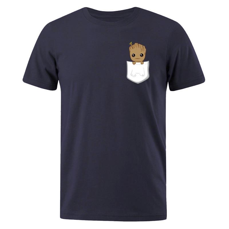 Men T-shirt Fashion Tops Marvel Groot Printed Harajuku Hip Hop T Shirts Short Sleeve Hipster Comics Tee Shirt 2019 Summer