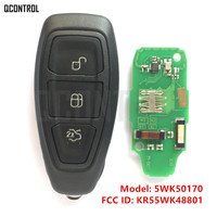 QCONTROL Car Remote Smart Key Fit For Ford 5WK50170 FCC ID KR55WK48801