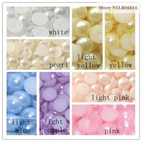 12MM 1070PCS Acrylic ABS Half Face Bead Plastic Simulated Pearl Beads Jewellery Accessories