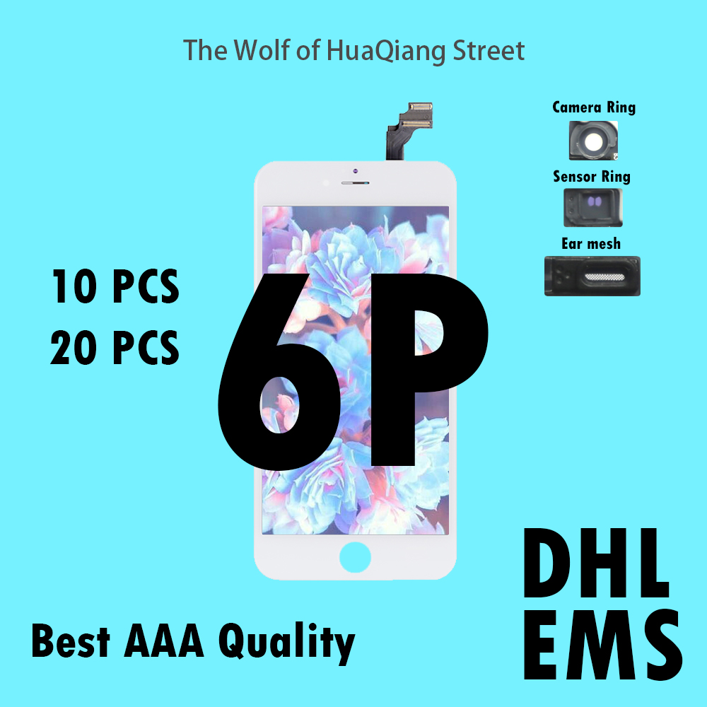 10 20 pcs Qualité AAAA LCD Pour iPhone 6 p 6 p LCD Assemblée D'affichage avec Écran Tactile Remplacement Digitizer