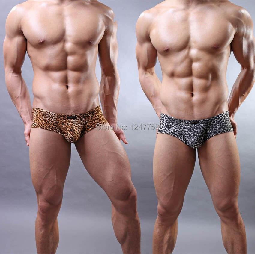 Sexy Men's Soft Bikini Boxer Bottoms Underwear Comfy Leopard Mini Boxer
