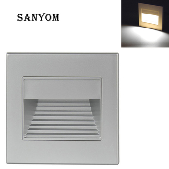 86 Style Wall Light Night light LED Embedded Wall Lamp for Stair Step Foyer Kitchen Ladder Footlight White Corner Lamp image