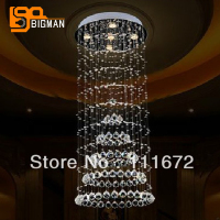 new modern chandelier crystal light Dia 50*H120cm pendant kristal lamp home lighting