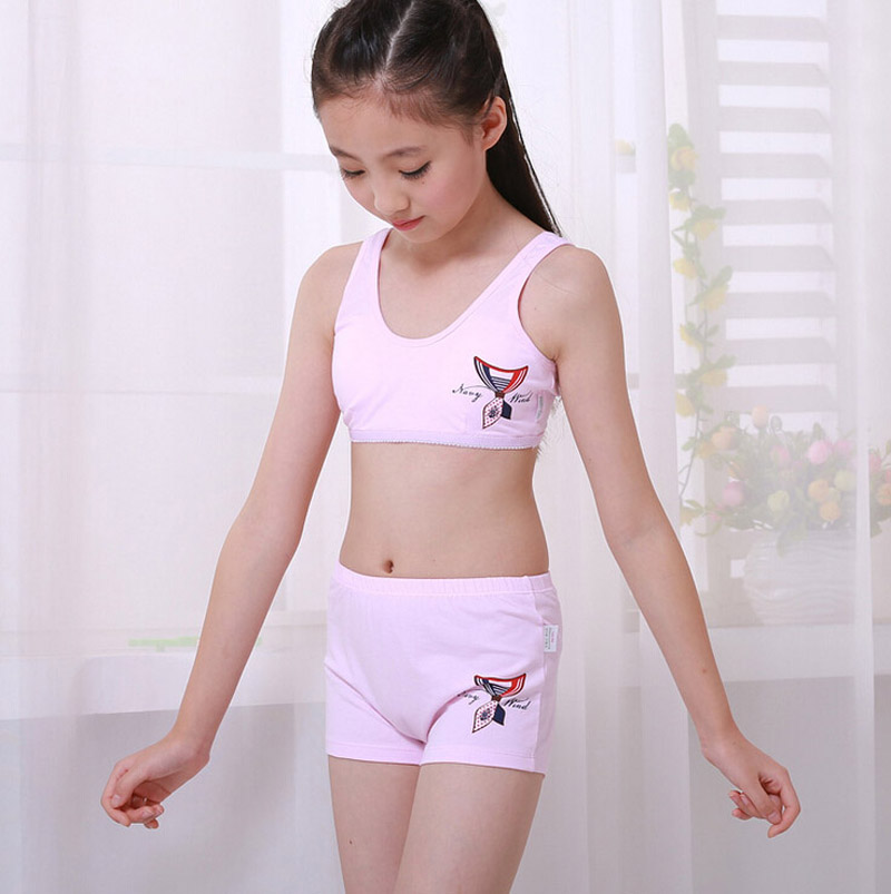 Young girl in underwear
