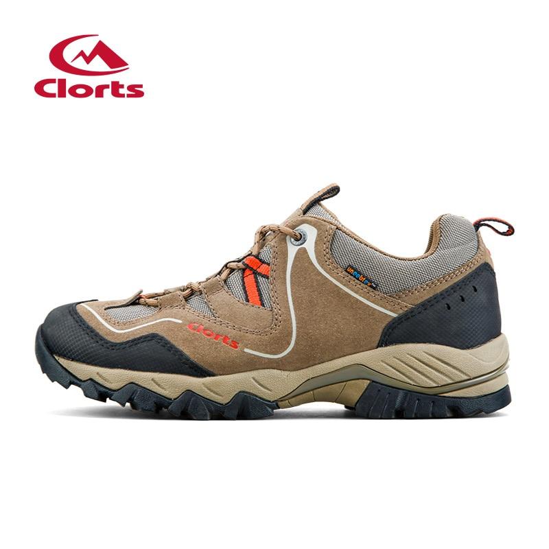 Clorts Waterproof Trekking Shoes Outdoor Men Hiking Shoes Genuine Leather Sneakers Breathable Hiking Shoes Waterproof Sneakers цена