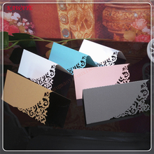100 Pcs Guests Name Place Invitation Table Card Wedding Favor Decoration Laser Cutting Party Table Cards