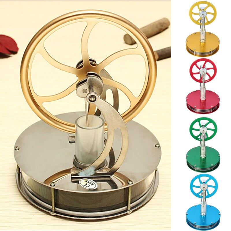 Venta caliente descubrimiento juguetes de baja temperatura del motor Stirling modelo educativo juguete regalo para chico niños adultos oro azul verde rojo