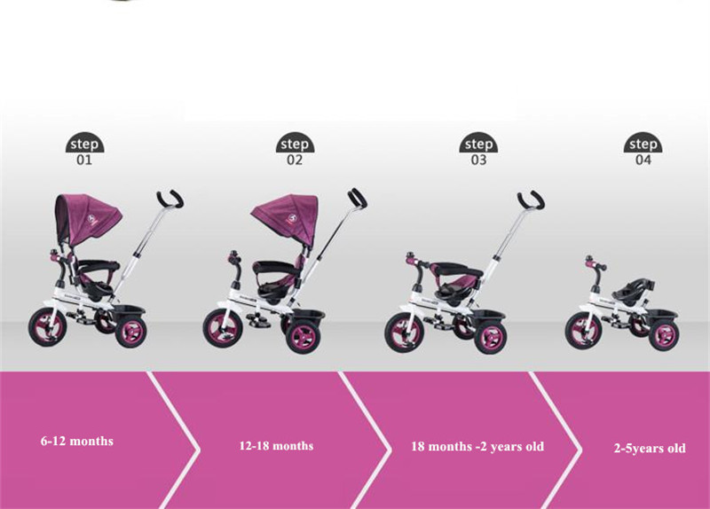 Hot Sell Seat 360 Degrees Rotated Baby Push Baby Stroller Multicolor Child Bike Commutatable Handle Kids Tricycle Free Drop Ship8