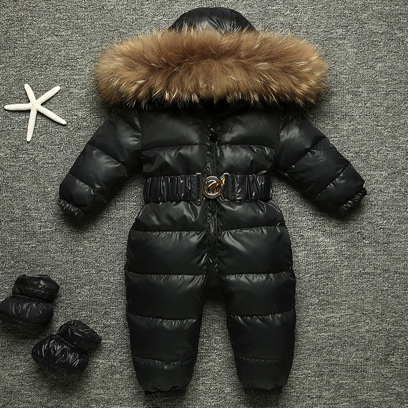 -15 Russian Winter Snowsuit 2018 Boy Baby Jacket 80% Duck Down Outdoor Infant Clothes Girls Climbing For Girl Kids Jumpsuit 1~4y the love of cat and mouse boy girl cartoon duck down jacket jumpsuit jackets baby snowsuit kids clothes 03