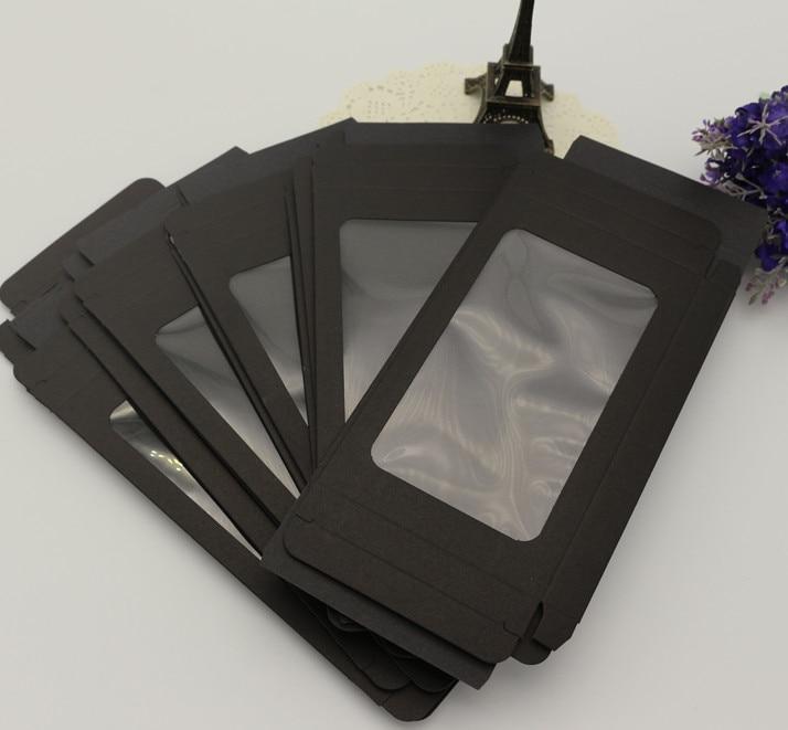 Черная бумага Розничная упаковка <font><b>Box</b></font>/черный Упаковка коробки для сотовый телефон случаях черный окна шкатулки
